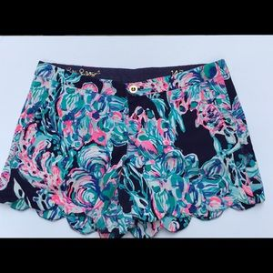 """Lilly Pulitzer 5"""" Buttercup Shorts Size 14"""